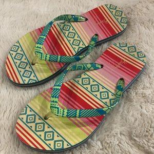 3/$20 Vera Bradley Serape Paradise Flip Flops Sz 7